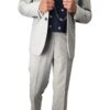 Cavani Light Grey and Navy Suit Outfit