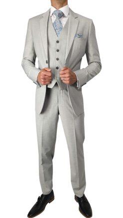 Cavani Veneto Light Grey 3pc Suit