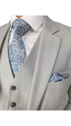 Cavani Veneto Light Grey 3pc Suit