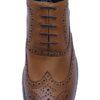 Cavani Tan Brogue Shoe