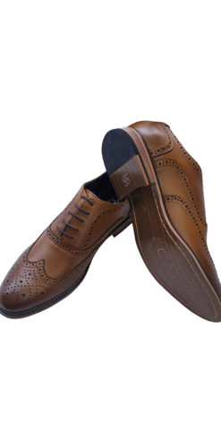 Cavani Tan Brogue Shoe
