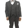 Boys Grey Tweed Effect 3pc Suit – Cavani Albert