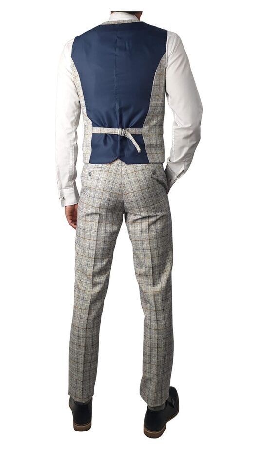 Cody Ice Checked 3pc Suit