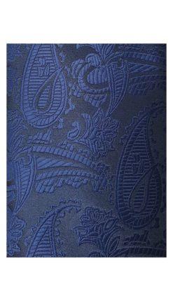 Navy Blue Paisley Tie and Hankie