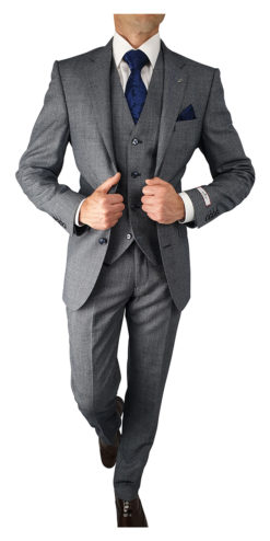 Herbie Frogg 3pc Light Blue Textured Suit