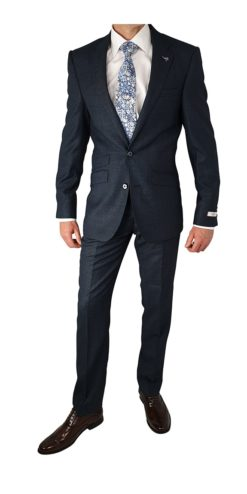 Herbie Frogg 3pc Blue Textured Suit