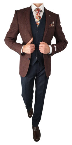 Herbie Frogg 3pc Burgundy Woollen Jkt Suit