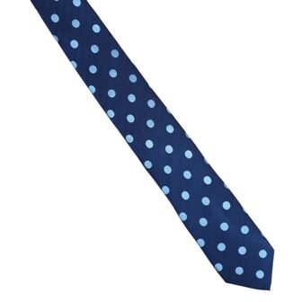 Navy Blue Spot Tie