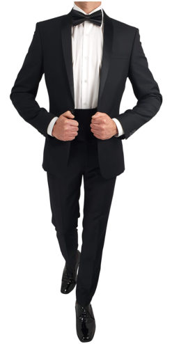 Shawl Lapel DJ Suit Black