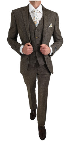 Tan Donegal Tweed Suit