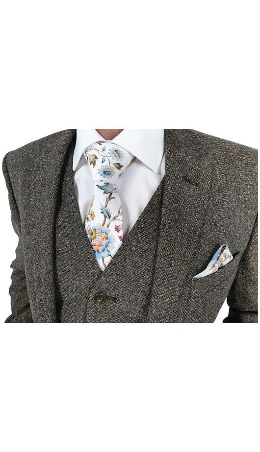 Tan Donegal Tweed Suit