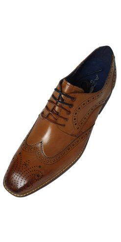 Azor Tan Brogue Shoe
