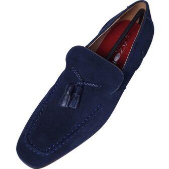 Azor Navy Blue Loafer Shoe
