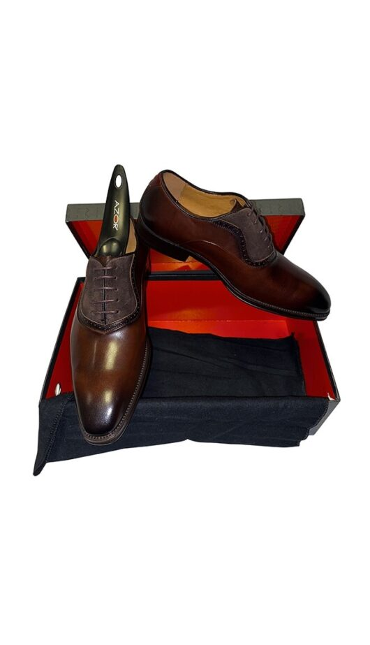 Azor Leather Brown Shoe