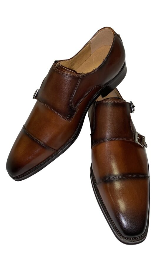 Azor Double Monk Dark Brown Shoe