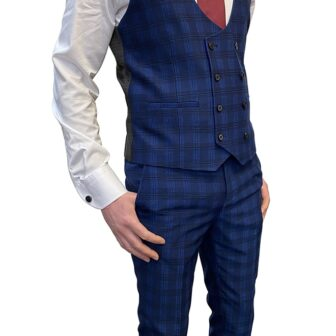 Skopes Felix Blue Check Suit