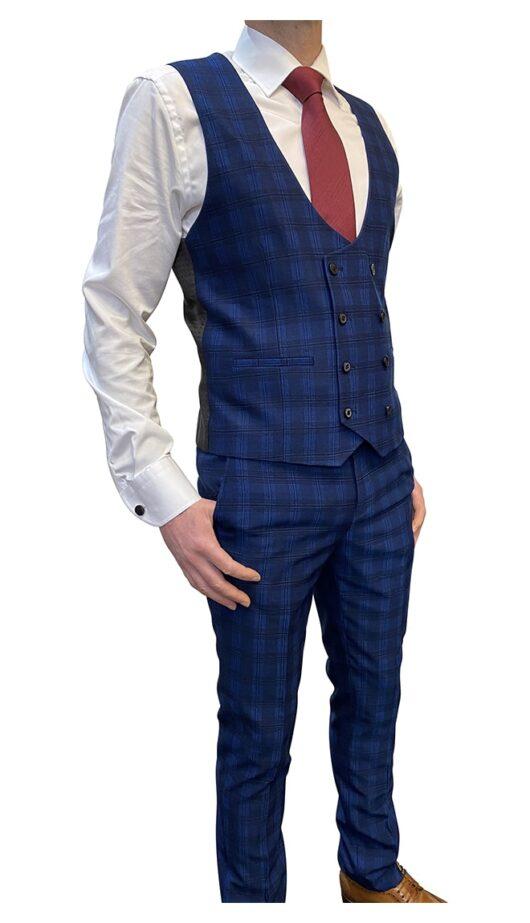 Skopes Felix Blue Check Suit