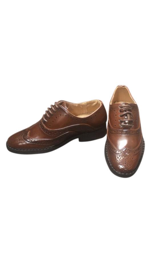 Child Caramel Brogue Shoe