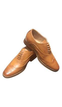 Child Tan Brogue Shoe