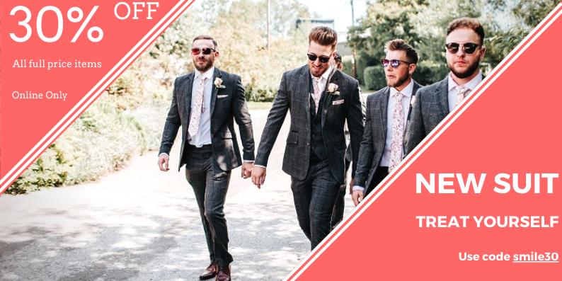30% off mens suits