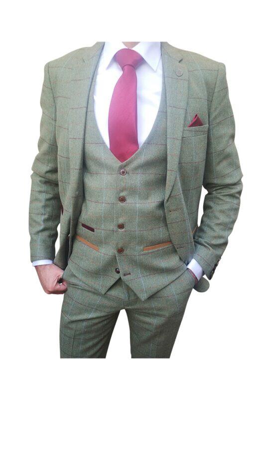 Marc Darcy - Ellis Moss Green Tweed Blazer
