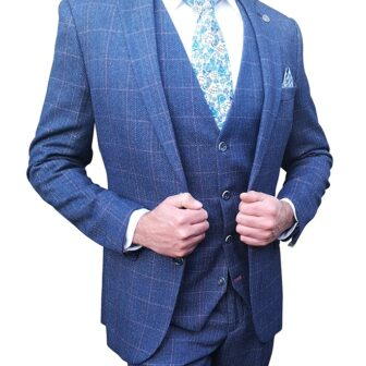 Marc Darcy - Harry Indigo Tweed Blue Blazer