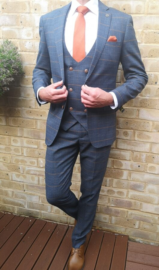 Marc Darcy - Jenson Marine Navy 3 Piece Suit