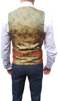Marc Darcy - Kelly Dark Tan Double Breasted Waistcoat