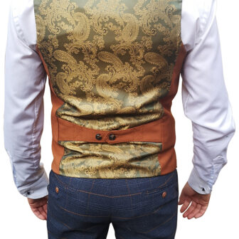 Marc Darcy - Kelly Dark Tan Double Breasted Waistcoat