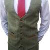 Marc Darcy - Ellis Moss Green Tweed Waistcoat
