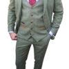 Marc Darcy - Ellis Moss Green Tweed 3 Piece Suit