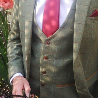 Green Tweed 3 Piece Suit | astraes
