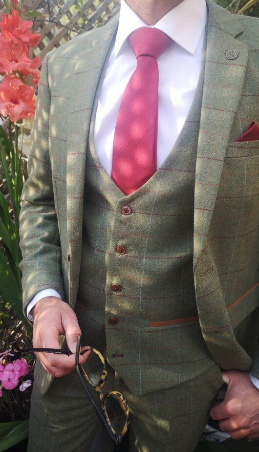 Green Tweed 3 Piece Suit   astraes