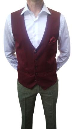 Marc Darcy - Kelly Wine Waistcoat