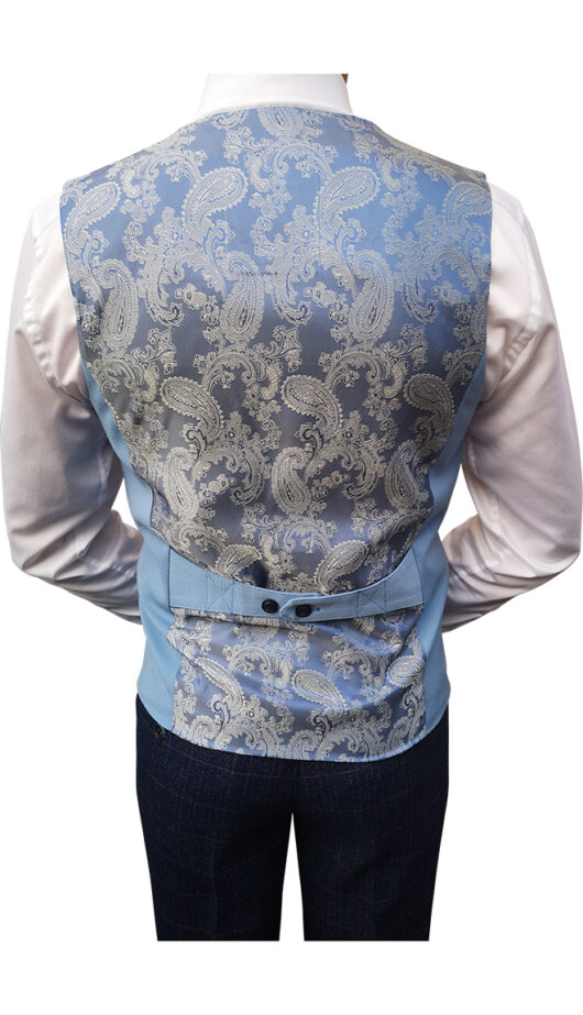Marc Darcy - Kelly Sky Blue Waistcoat