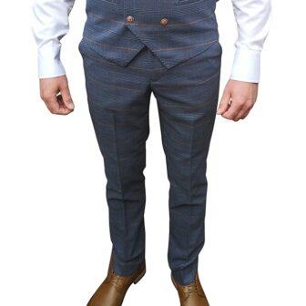 Marc Darcy - Jenson Marine Navy Check Trouser