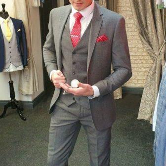 Silver Textured 3 Piece Suit