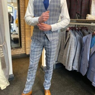 Skopes Camini Blue Check Suit