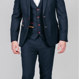 Marc Darcy - JD4 Navy 3 Piece Suit