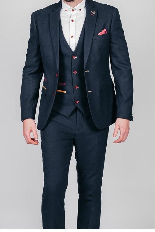 Marc Darcy - JD4 Navy 3 Piece Suit