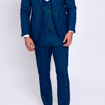 Marc Darcy - Jerry Blue Check 3 Piece Suit