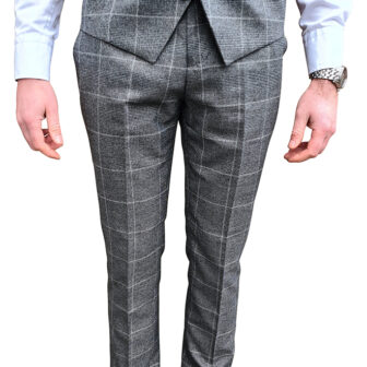 Charcoal Grey Check Trouser