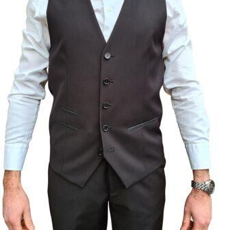 Black Dinner Suit Waistcoat
