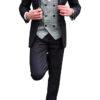 Black Tuxedo with Grey Check Waistcoat