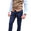 Marc Darcy - Kelly Tan Double Breasted Waistcoat