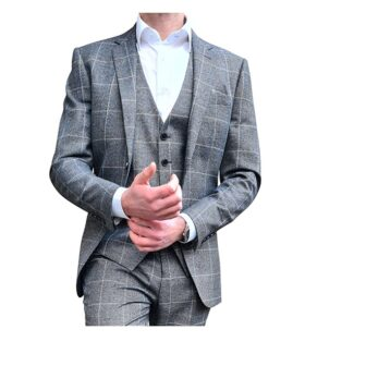 Charcoal Grey Check Blazer