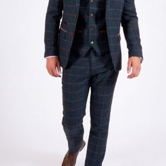 Marc Darcy Blue Eton 3 Piece Suit