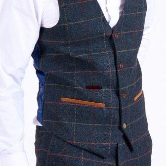 Marc Darcy Blue Eton Waistcoat (1)
