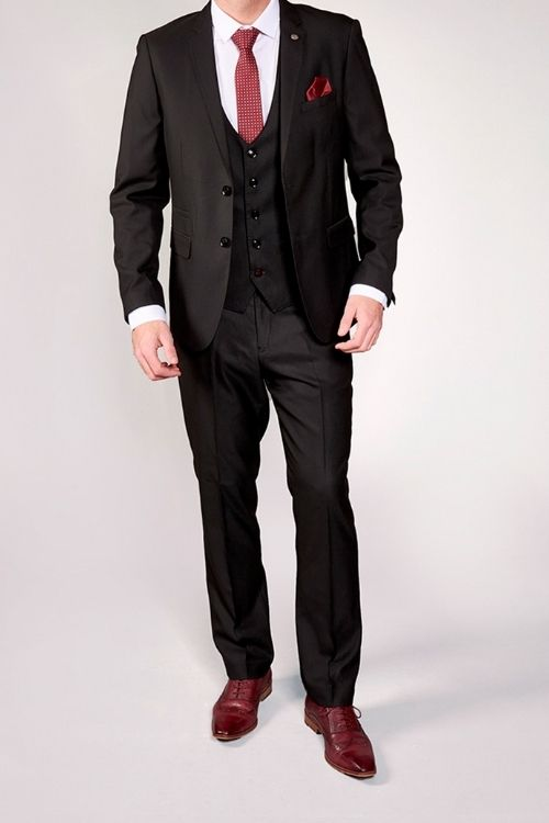 Marc Darcy Danny Black 3 Piece Suit