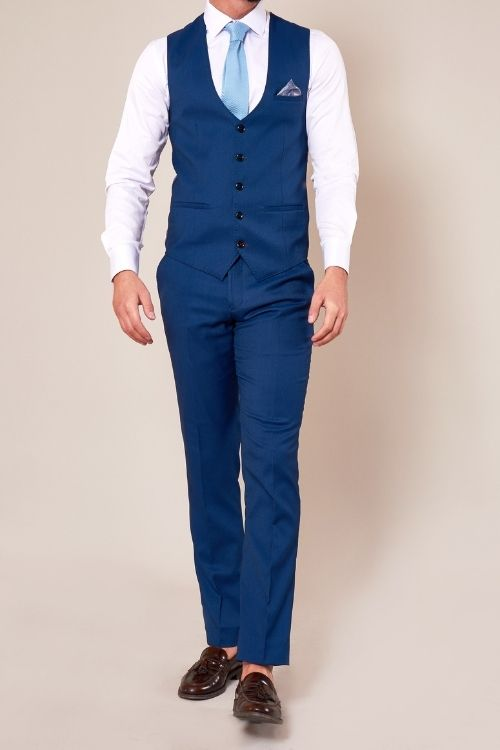 Marc Darcy Danny Royal Blue 3 Piece Suit